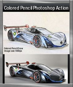 Colored Draw Photoshop Action - Photo Effects Actions