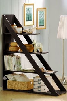 Psinta Modern Shelving Unit by Wholesale Interiors on - great for storage and as a room divider Diy Furniture, Modern Furniture, Furniture Design, Office Furniture, Furniture Storage, Studio Furniture, Minimalist Furniture, Brown Furniture, Space Furniture