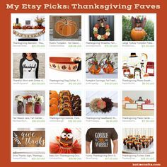 Loving all these #Etsy items for #Thanksgiving! #shopping  Thanksgiving Etsy Faves by Katie Crafts - Crafting, Sewing, Recipes and More! https://katiecrafts.com