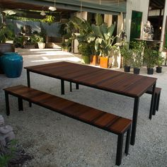 Outdoor Dining Table by Sarabi Studio