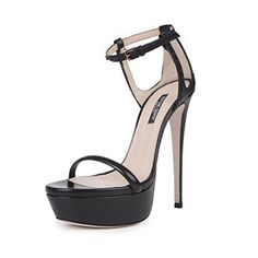 Ruthie Davis Womens Trophy Black Stud Leather Platform Sandal 85 M US ** More info could be found at the image url.(This is an Amazon affiliate link and I receive a commission for the sales)