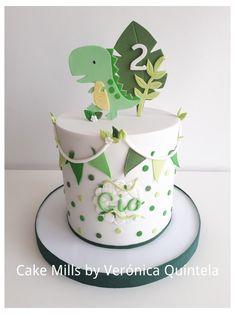 Dinosaur First Birthday, Baby Birthday Cakes, Baby Boy 1st Birthday, Boys 1st Birthday Cake, Dinosaur Cakes For Boys, Bolo Dino, Die Dinos Baby, Baby Dinosaurs, Gateau Baby Shower