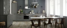 Ponte kitchen - Country kitchen for modern living - Kvik. Cuisines Design, Kitchen On A Budget, Country Kitchen, Nice Kitchen, Kitchen Ideas, Cool Kitchens, Double Vanity, Kitchen Cabinets, Tall Cabinets
