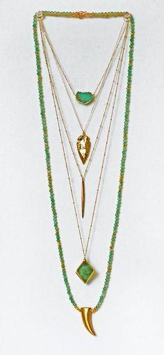 green & gold | kei jewelry...