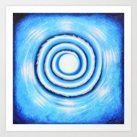 Modrá spirála Umělecká reprodukce