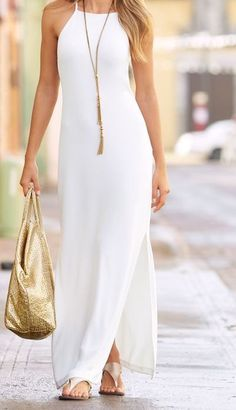 I love it when I get a new dress.I own a lot of and just love adding a new dresses to my collection.This maxi dress make all of my outfit look good. This is a particular favourite of my mine and I highly recommend this maxi dress to everyone. White Off Trendy Dresses, Nice Dresses, Fashion Dresses, Maxi Dress Styles, Long Casual Dresses, Simple Dress Casual, Awesome Dresses, Simple Dresses, Formal Dresses