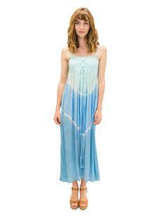 Tie Dye Blue Long Dress