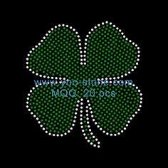 Diy Irish Shamrock Hotfix Rhinestone Transfers