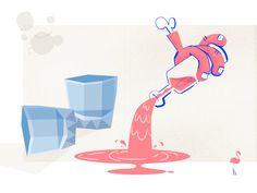 Poor Pour by Chris Sandlin #Design Popular #Dribbble #shots