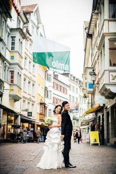 Ein Hochzeits-Shooting an der Chilbi im Appenzell / Schweiz