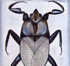 Bug Original Painting Insect Art Animal by CelineArtGalerie, €55.00