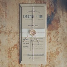 Rustic Kraft Wedding Invitation Suite