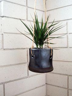 sexy black hanging planter