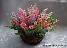 Вереск - вереск,вереск из бисера,цветы ручной работы,цветы из бисера,Нижний Новгород