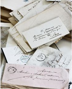 Handwritten letters. As much as I love the instant gratification of the computer, a handwritten letter is wonderful.