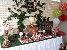 Woodland Themed Guest Dessert Table | Amy Atlas Events