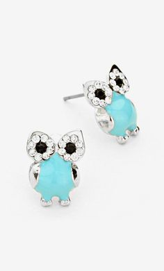 Turquoilicious Owl Earrings