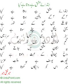 ابتدائے عشق ہے روتا ہے کیا، میر تقی میر Poetry Funny, Poetry Poem, Poetry Quotes, Urdu Poetry Romantic, Love Poetry Urdu, Urdu Quotes Islamic, Poem Titles, Poetry Famous, Punjabi Poetry