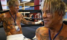 """Wow! Mickey Rourke, 62, can HELP YOU lose weight -- because once you see these pics of his supposedly  """"impressive six pack"""" (impressive in that he actually is exposing that wrinkly, crinkly stomach to the world) YOU WILL LOSE YOUR APPETITE and knock off those pounds fast! And Rourke's hair? Let's dub it the official EWWWWW! 'do!"""