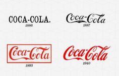 Evolution of Coca Cola logo. #design