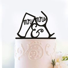 Wedding Cake Topper (Cup/ Cheer Up) #WeddingCakeTopper #Weddings #WeddingCake #WeddingCakeIdeas #MrMrs #Cheers