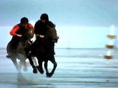 'Strand-Galoppade - Diptychon rechts' von Dirk h. Wendt bei artflakes.com als Poster oder Kunstdruck $18.03