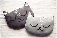 Katzen-Körnerkissen nach einer Nähanleitung von Maschaa