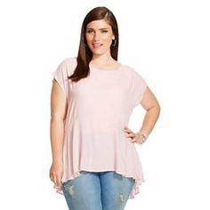 Women's Plus Size Peplum Top  - Ava & Viv