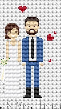 Cross Stitch Family, Cross Stitch Heart, Cross Stitch Cards, Cross Stitching, Cross Stitch Embroidery, Wedding Cross Stitch Patterns, Cross Stitch Designs, Crochet Cross, Couture