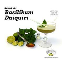 der Basilikum Daiquiri von den freilaufenden Limetten.