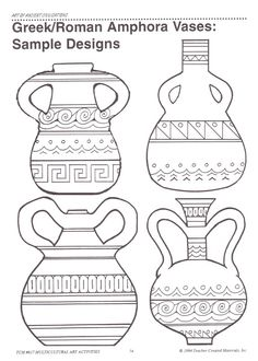 4 Efficient Tricks: Unique Vases For Wedding crystal vases etsy.Vases Centerpieces With Pictures geometric vases medium.Vases Repurpose Tin Cans. Greek Crafts, Greece Art, Rome Antique, Antique Vases, Ancient Greek Art, 6th Grade Art, Sixth Grade, Greek Pottery, Grands Vases