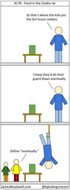 James Breakwell's Unbelievably Bad Webcomic: Hand in the Cookie Jar
