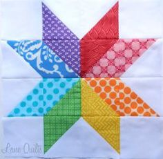 star flower quilt block