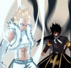The two dragon slayers of Sabertooth: Rogue and Sting. #Fairytail
