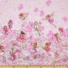 Michael Miller Petal Flower Fairies Double Border Stripe Pink $7.63/y Manufacturer: Michael Miller Collection: Petal Flower Fairies