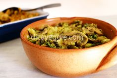 Brócolis com champignons, leite de coco e curry | DicaVeggie