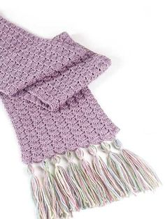 Sugar Plum Scarf: free quick 'n' easy pattern