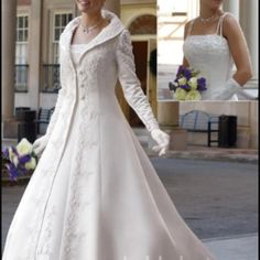 Winter wedding dress.