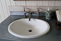 rustic galvinized wall mounted vanity faucet - Google Search