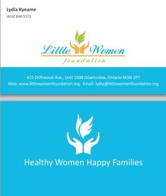 Business card design concept for global life financial a financial business card design concept for little women foundation a non profit organization based in reheart Images