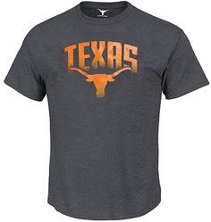 Texas Longhorns Mens Charcoal Ascender Short Sleeve T Shirt by 289c Apparel $21.95
