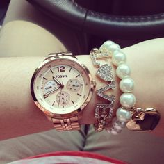 How do you style your wrist? Fossil #watch #style