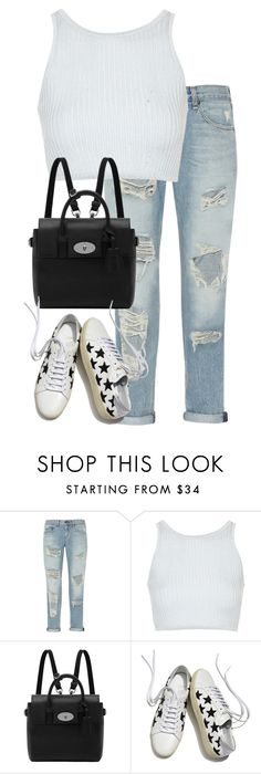 """Untitled #2681"" by elenaday ❤ liked on Polyvore featuring rag & bone, Topshop, Mulberry and Yves Saint Laurent"