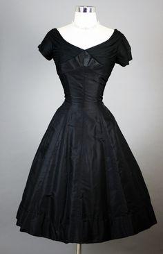 1950's Nathan Strong Silk Dress