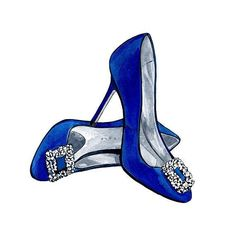 Manolo Blahnik 'Hangisi' Jeweled Pumps by LadyGatsbyLuxePaper Shoe Sketches, Fashion Sketches, Manolo Blahnik Hangisi, Shoe Art, Art Shoes, Fancy Shoes, Fashion Wall Art, Designer Shoes, Fashion Shoes