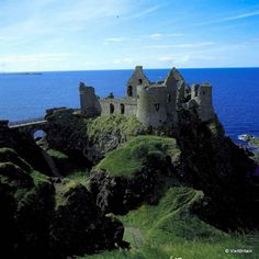 Dunluce Castle in Northern Ireland Game of Thrones filming locations: Belfast, County Antrim, Northern Ireland, UK