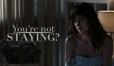 Christian : I told you I dont sleep with anyone. #fiftyshades #ana #christian