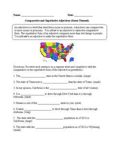 Comparative and Superlative Adjectives Practice Worksheet | Lengua ...