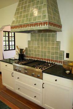 Spanish revival Mediterranean kitchen