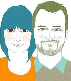 Custom portraits by Ashley Goldberg.